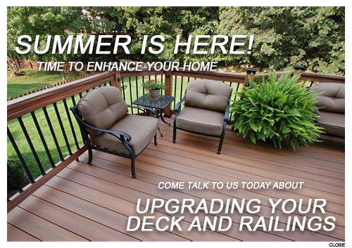 Talk to us today about upgrading your decking and railings!